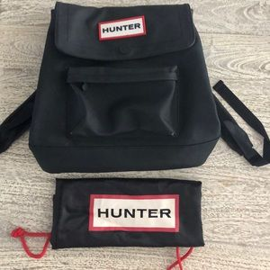 Black Hunter Backpack - drawstring bag